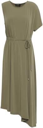 DKNY Asymmetric Jersey Midi Dress