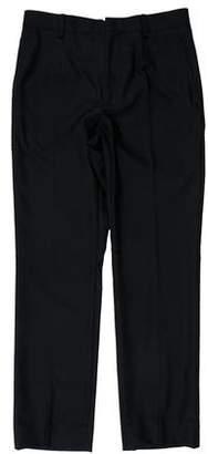 Balenciaga Flat Front Cashmere-Blend Pants