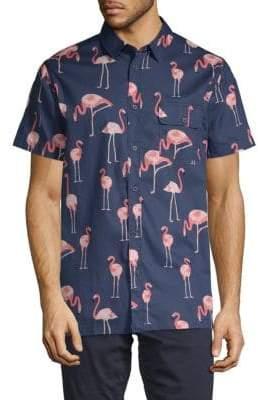 Sovereign Code Loiter Flamingo Short-Sleeve Shirt
