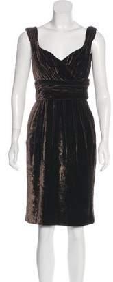 Dolce & Gabbana Velvet Knee-Length Dress