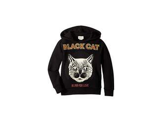 Gucci Kids Black Cat Hoodie (Little Kids/Big Kids)