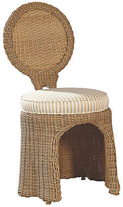 Lane Venture CELERIE KEMBLE FOR Crespi Side Chair - Canvas/Taupe Sunbrella