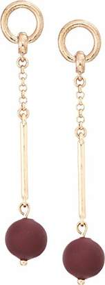 Lucky Brand Women's Painted Bead Drop Earrings