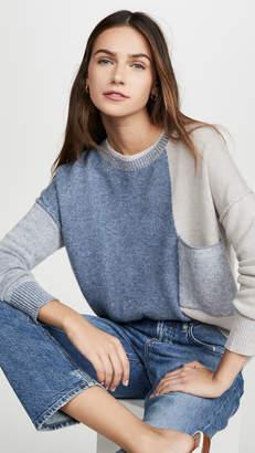 Brochu Walker Ila Colorblock Cashmere Sweater