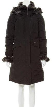 Woolrich Faux Fur Trimmed Coat $395 thestylecure.com