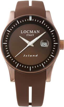 Locman (ロックマン) - LOCMAN ラウンドウォッチ デイト表示 ケース:ブラウン ベルト:ブラウン