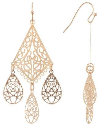 Panacea Laser Cut Chandelier Earrings