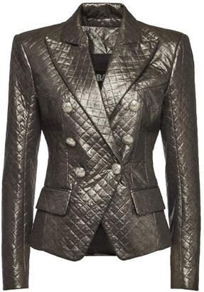 Balmain Metallic Double-Breasted Blazer