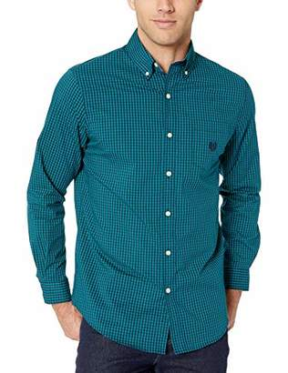 Chaps Men's Plaid ec Stretch Long Sleeve Sport Shirt