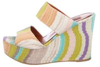 Missoni Patterned Slide Wedges