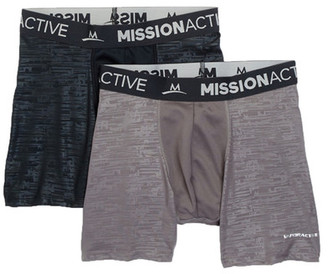 Mission VaporActive Performance Boxer Brief - Pack of 2 $29.99 thestylecure.com