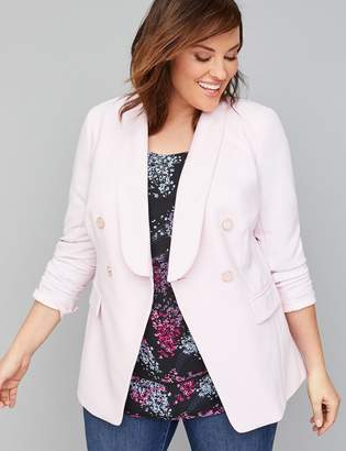 9b846384aae Lane Bryant Bryant Blazer - Double Breasted Modern Stretch