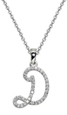 Designs By Fmc .925 Sterling Silver D Initial Pendant Necklace