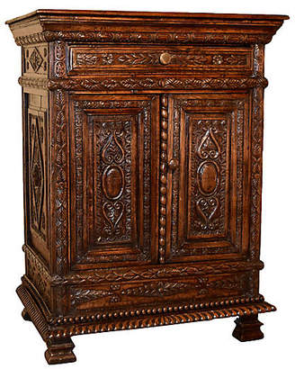 One Kings Lane Vintage 19th Century French Carved Cabinet - Black Sheep Antiques