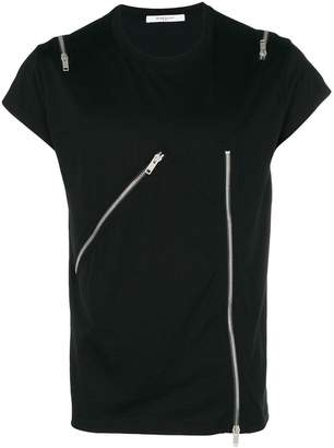 Givenchy zipped T-shirt