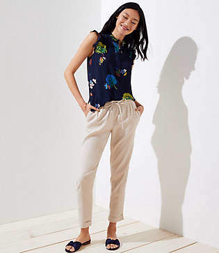 LOFT Slim Drawstring Pants