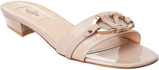 Valentino V Rivet Patent Sandal