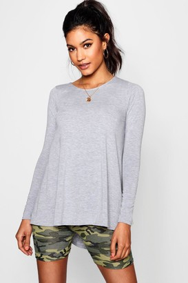boohoo Tall Long Sleeve Basic Swing Tee