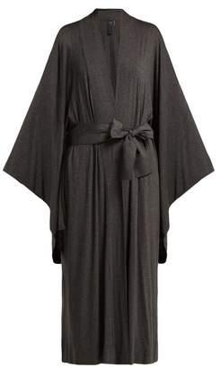 Norma Kamali Wrap Jersey Robe - Womens - Dark Grey