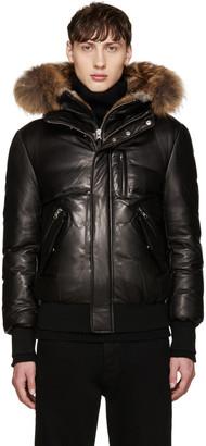 Mackage Black Leather Down Glen Jacket $1,490 thestylecure.com