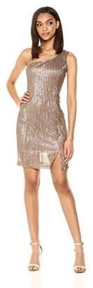 ASTR the Label Women's Serena Sparkly One Shoulder Dress