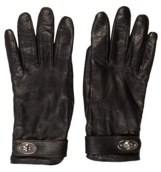 Hermes Leather Turn-Lock Gloves