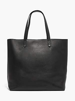 Madewell Leather Transport Zip Top Tote Bag