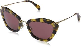 Miu Miu Women's MU10NS-7S00A0-55 Butterfly Sunglasses