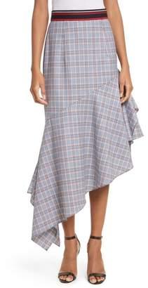 Milly Asymmetrical Ruffle Hem Skirt