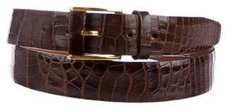 Zilli Crocodile Waist Belt