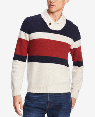 Tommy Hilfiger Men's Spokane Stripe Shawl-Collar Sweater