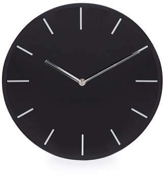 Debenhams Black Glass Wall Clock