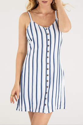 Apricot Lane Smocked Dress-Ivory/blue
