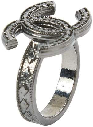 Chanel Anthracite Metal Ring