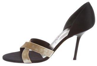 Vera Wang Satin Crossover Sandals
