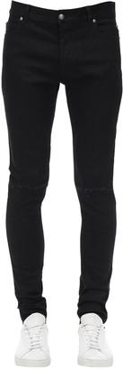 Balmain 14cm Destroyed Skinny Cotton Denim Jeans