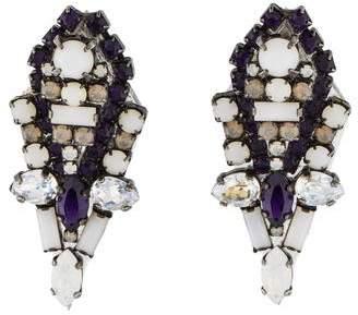 Erickson Beamon Crystal Clip-On Earrings
