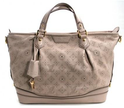 Louis Vuitton excellent (EX Sable Mahina Leather Stellar PM Bag