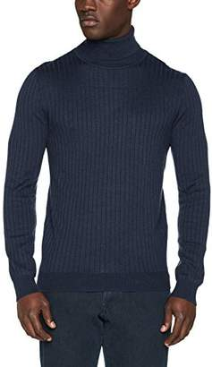 Benetton Men's Turtle Neck Sweater Sweatshirt,Large