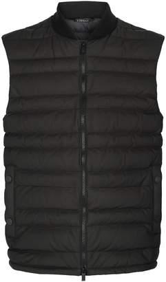 Ermenegildo Zegna Leather Panelled Gilet