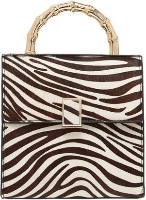 Loeffler Randall Tani Mini Zebra Print Leather Bag