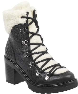 Marc Fisher Daven Genuine Shearling Lace Up Boot