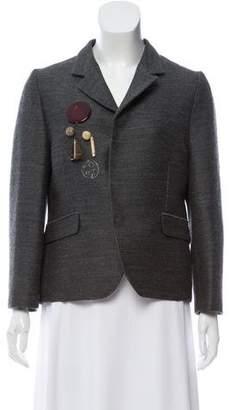 Marni Embellished Wool Blazer