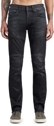 True Religion MENS COATED MOTO SKINNY JEAN