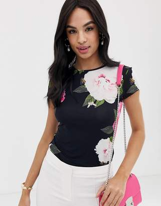 51456dcc0296a Ted Baker Alanyo magnificent floral fitted t-shirt