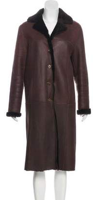 Bruno Magli Reversible Shearling Coat