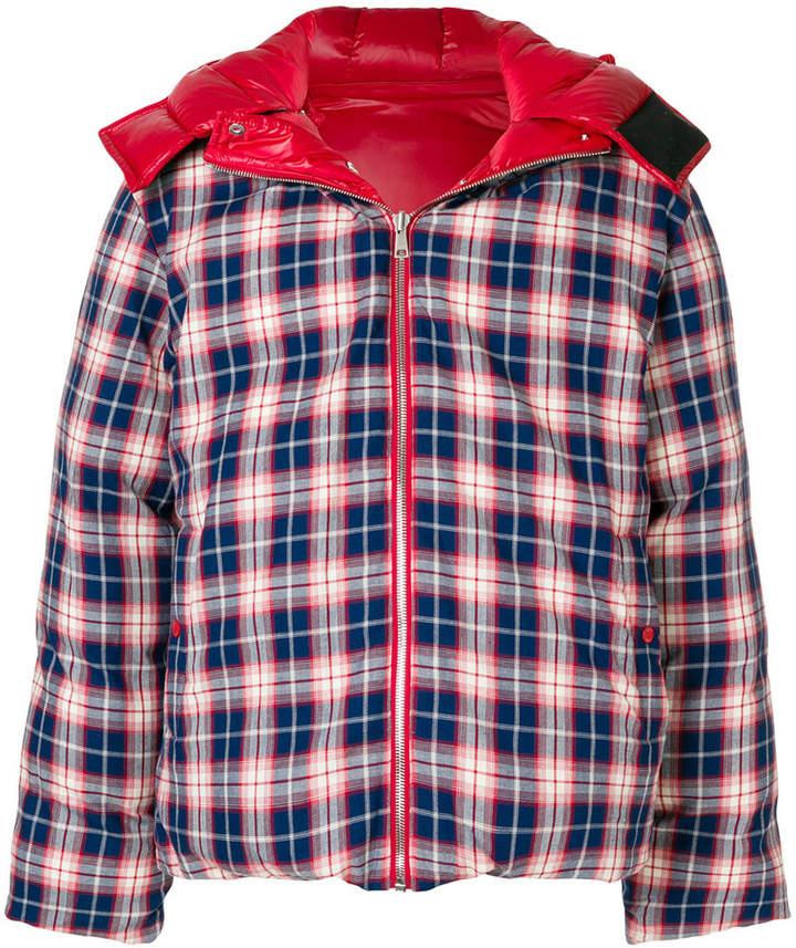 Ader Error gingham puffer jacket