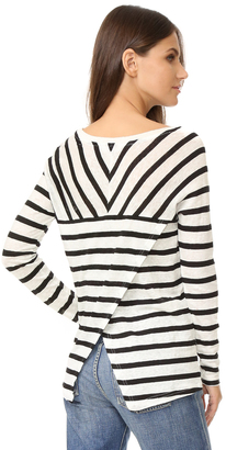 BB Dakota Merel Striped Long Sleeve Tee $70 thestylecure.com