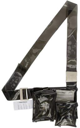 A-Cold-Wall* Grey PVC Tri Pocket Utility Pouch