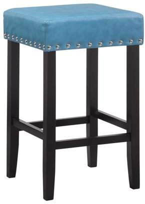 "Carolina Chair and Table York Nail Head Trim Backless 25"" Counter Stool"